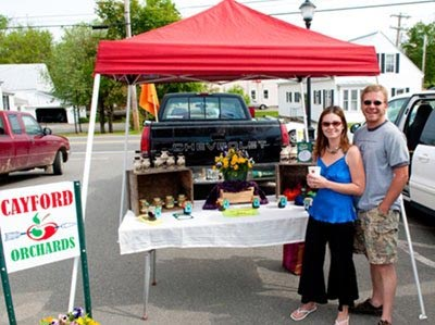 Heather & Jason at The Skowhegan Farmers' Market